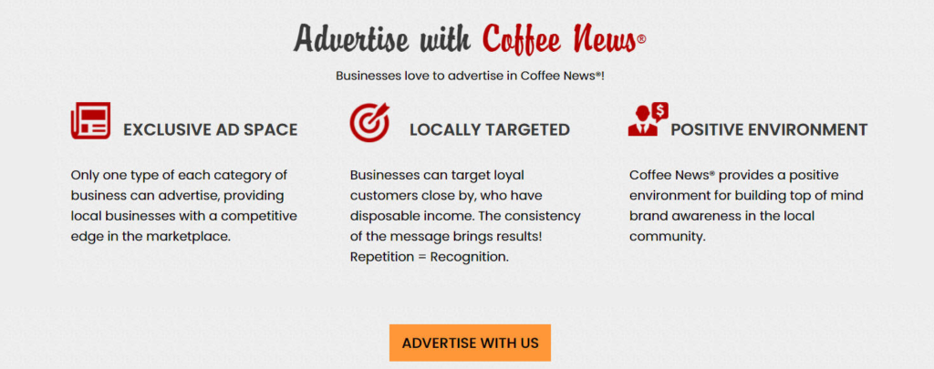 Advertise in Coffee News Nola